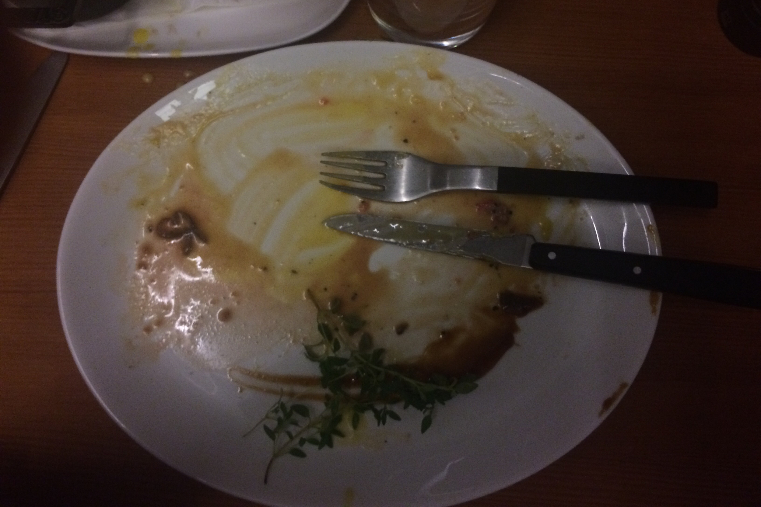The aftermath, at Gourmandiet. (Copenhagen, Denmark.)