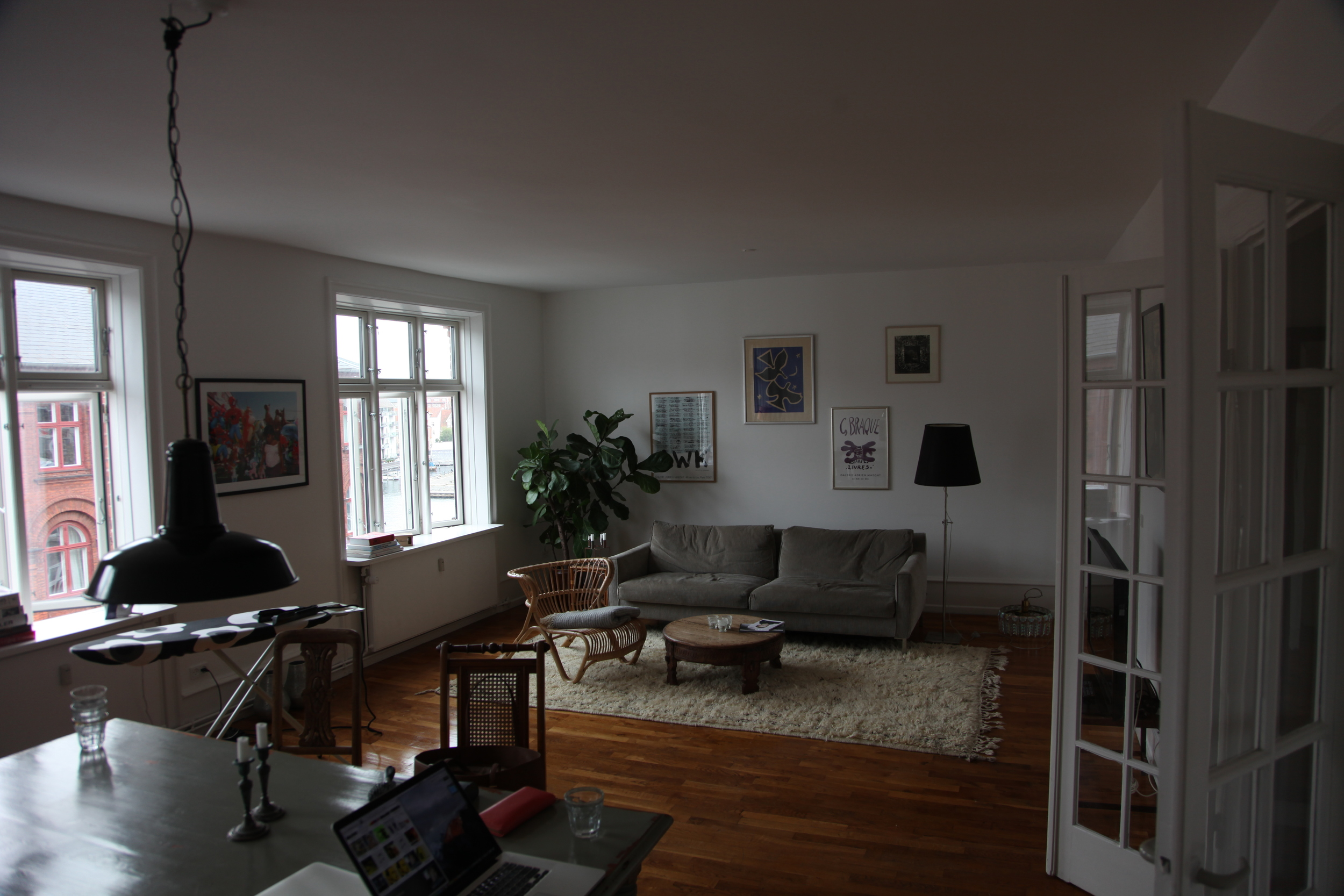 The apartment we got for a steal on AirBnB. (Copenhagen, Denmark.)