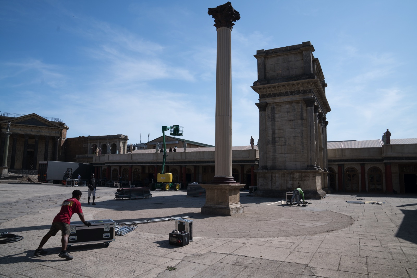 "A set from HBO's ""Rome,"" still in use for another production.   (Rome, Lazio, Italy.)"