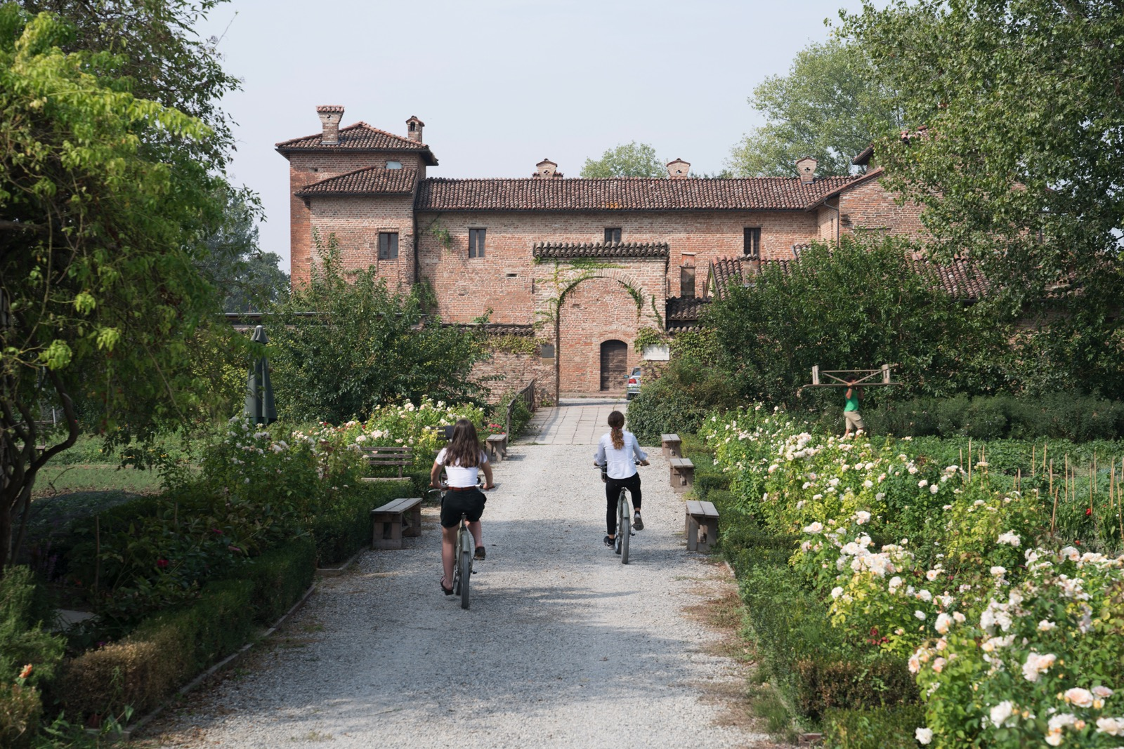 Arriving back at our hotel, the Antica Corte Pallavicina Relais.   (  Polesine Parmense, Emilia-Romagna, Italy.)