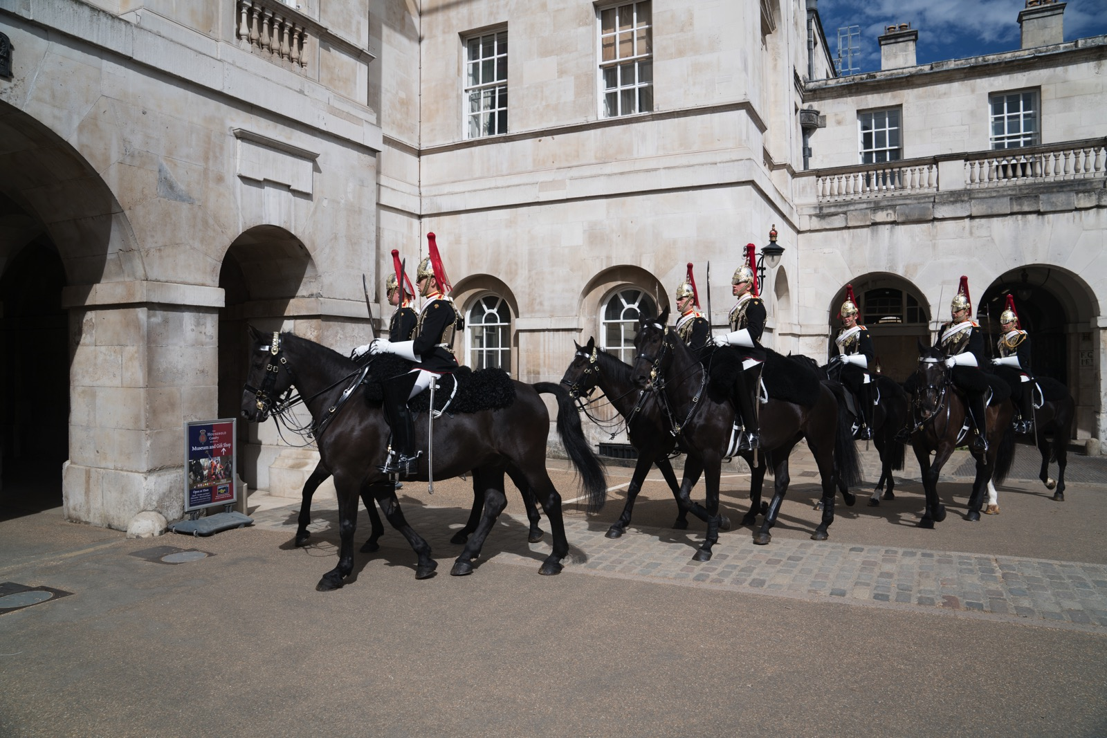 The changing of the Horse Guard.   (London, United Kingdom.)