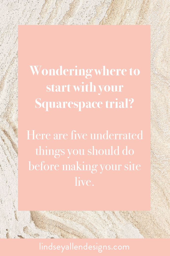 What should I do first on my Squarespace website?