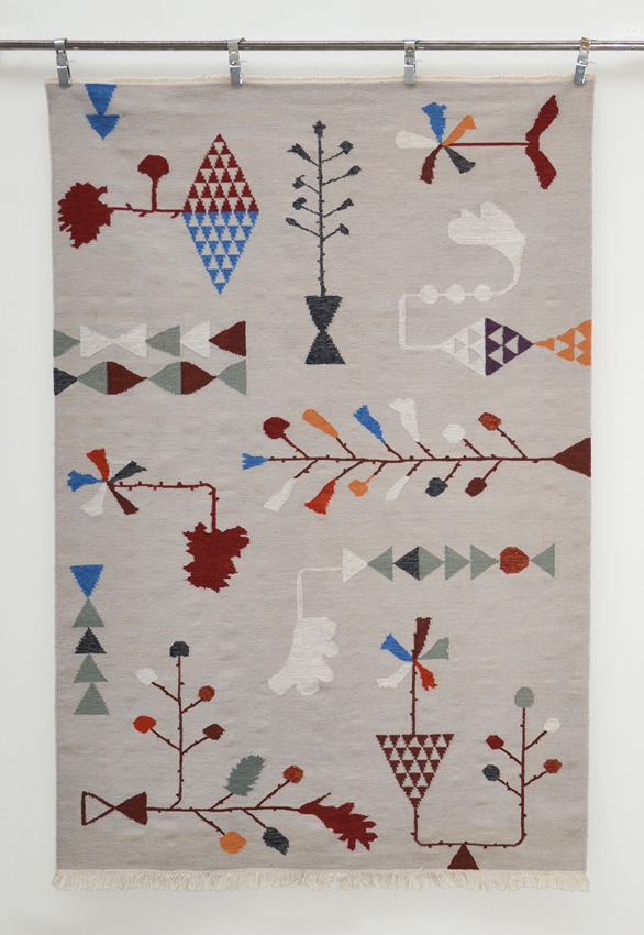 "Artist: Lotta Olsson  Title: Guatemalan Rug  Dimensions: 67' x 94 1/2""  Method: hand tinted  Condition: new - original"
