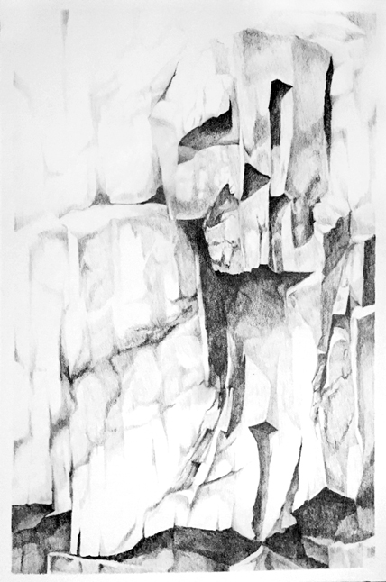 "Artist: Scott Tulay  Name: Christo  Year: 2015  Size: 20"" wide x 30"" high  Method: graphite  Condition: original"
