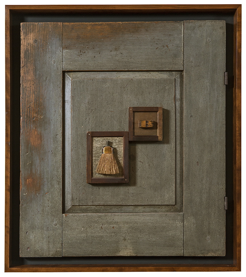 "Artist: John Sideli  Name: B is for Broom  Dimensions: 26 3/4"" x 24"" x 2 1/2"""