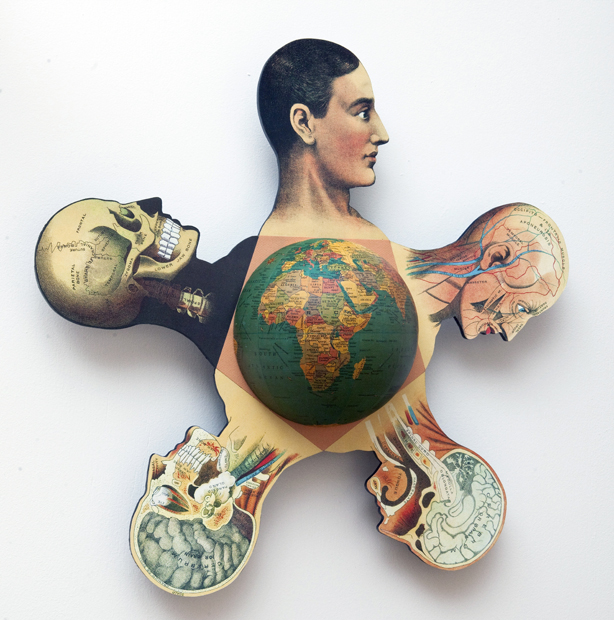 "Artist: John Sideli  Name: Earth Man-Homo Sapiens  Dimensions: 23"" x 23"" x 5"""