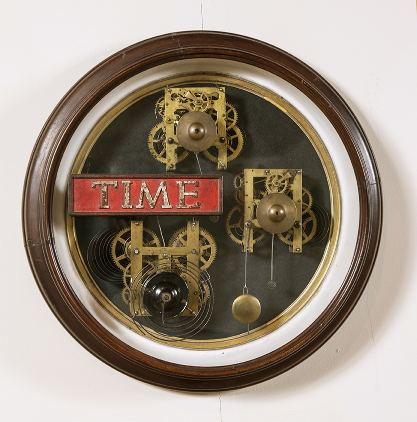 "Artist: John Sideli  Name: Time Machines  Dimensions: 19"" diameter x 4 1/2"""