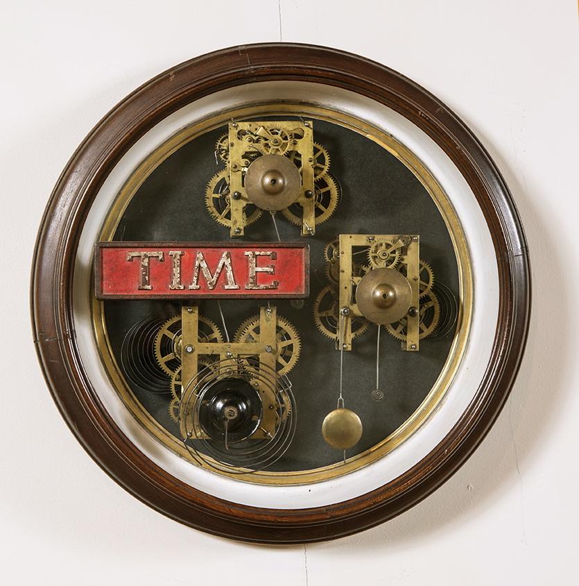 "Artist: John Sideli  Name: Time Machines  Dimensions: 19"" diameter x 4 1/2"""