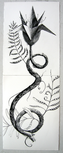 """Artist: Vico Fabbris  Name: Philantus Contortus  Dimensions: 22 1/2"""" x 60"""""""