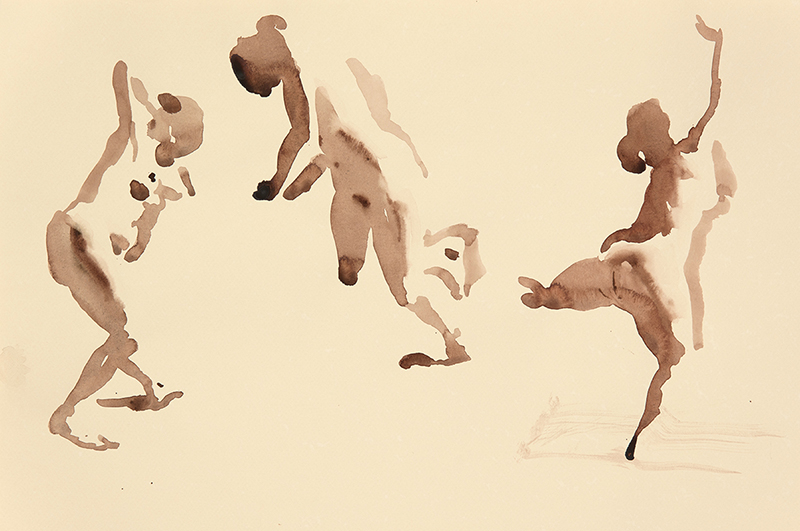 "Artist: Wendy Artin  Title: Lorraine Great Gestures  Date: 2017  Size: 5 1/6"" x 7 5/6""  Method: Watercolor  Price:  Inquire"