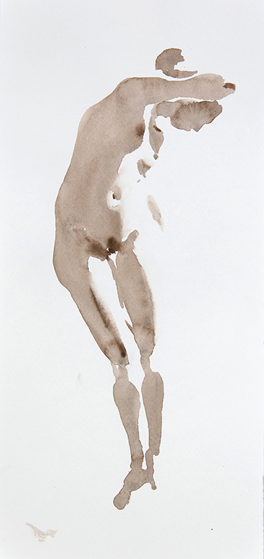 "Artist: Wendy Artin  Title: Jacqueline Gentle Curve  Date: 2017  Size: 6"" x 13""  Method: Watercolor  Price:  Inquire"