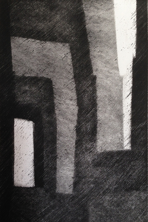 "Artist: John Hopkins  Title: Progression 6  Size: 10"" x 15""  Method: Monotype work on paper  Price:  Inquire"
