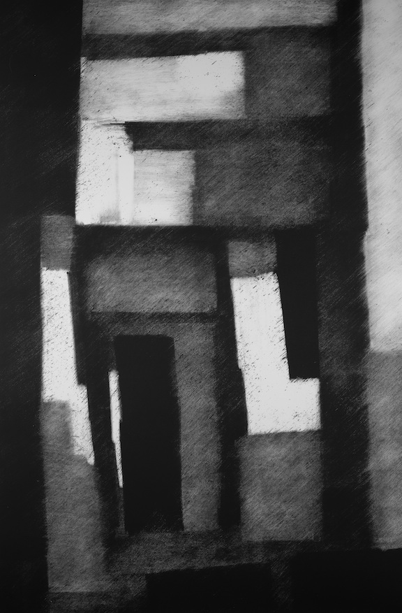"Artist: John Hopkins  Title: Haute-Niveau  Size: 28"" x 42""  Method: Monotype work on paper  Price:  Inquire"