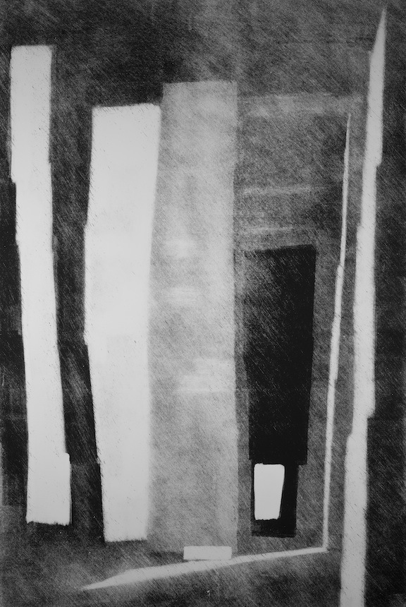 "Artist: John Hopkins  Title: Point-de-Repos  Size: 28"" x 44""  Method: Monotype work on paper  Price:  Inquire"