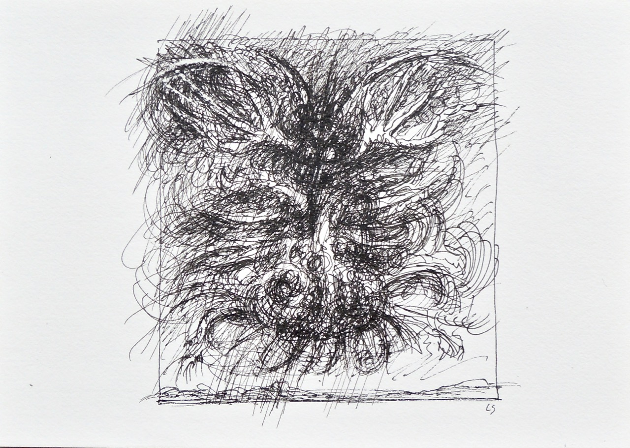 """Artist: Leon Steinmetz  Name: Insects of the Apocalypse 8  Size: 4"""" x 6""""  Method: pen and ink  Condition: original  Price:  Inquire"""