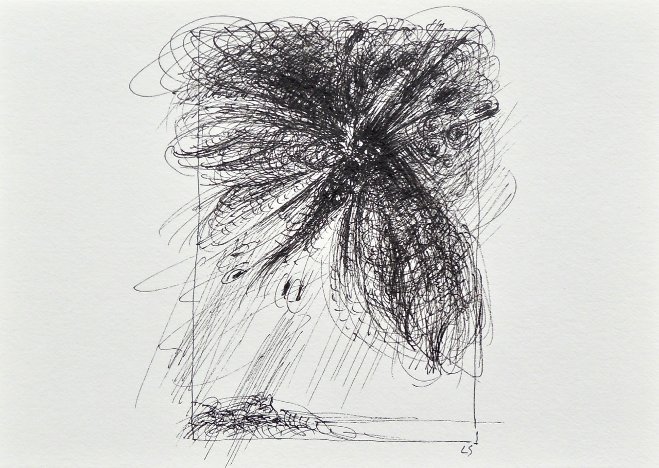 """Artist: Leon Steinmetz  Name: Insects of the Apocalypse 7  Size: 4"""" x 6""""  Method: pen and ink  Condition: original  Price:  Inquire"""