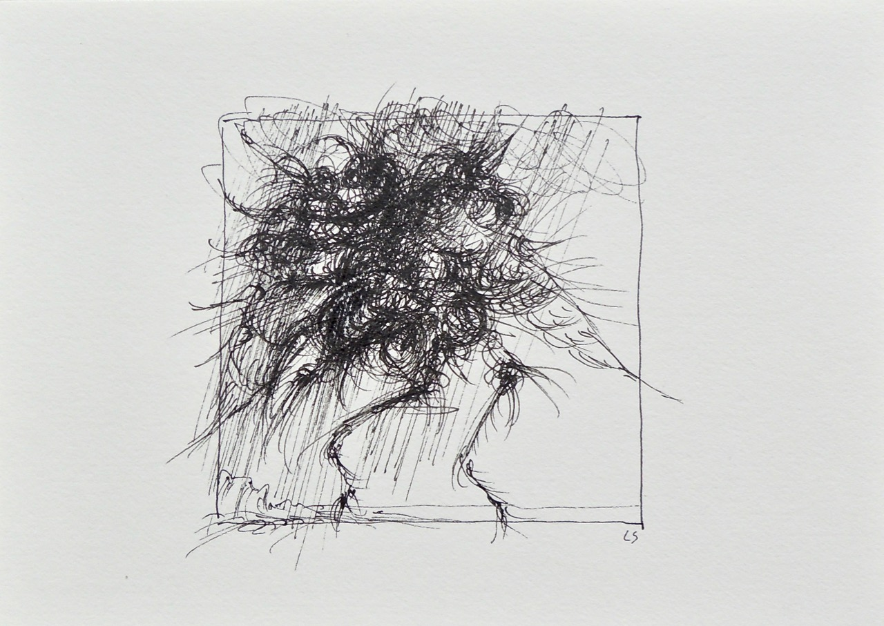 """Artist: Leon Steinmetz  Name: Insects of the Apocalypse 2  Size: 4"""" x 6""""  Method: pen and ink  Condition: original  Price:  Inquire"""