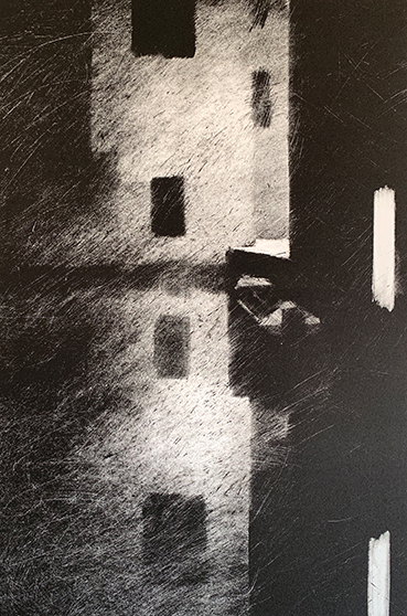 "Artist: John Hopkins  Title: Loading Zone 1  Size: 10 1/4"" x 15 1/2""  Method: one-of-a-kind, original monotype print  Price:  Inquire"
