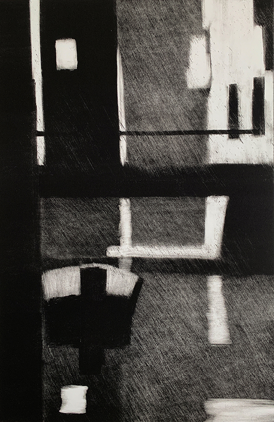 "Artist: John Hopkins  Title: Night Crossing 2  Size: 22 1/4"" x 30""  Method: one-of-a-kind, original monotype print  Price:  Inquire"