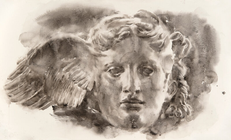 Artist: Wendy Artin  Title: Hypnos  Date: 2019  Size: 21x36  Method: Watercolor  Price:  Inquire