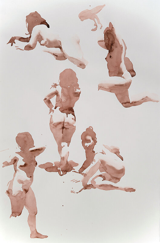 Artist: Wendy Artin  Title: Five Laura  Date: 2019  Size: 35x50  Method: Watercolor  Price:  Inquire