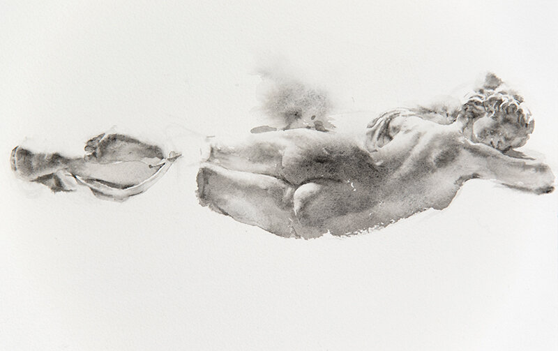 Artist: Wendy Artin  Title: Hermaphrodite  Date: 2019  Size: 7x10  Method: Watercolor  Price:  Inquire