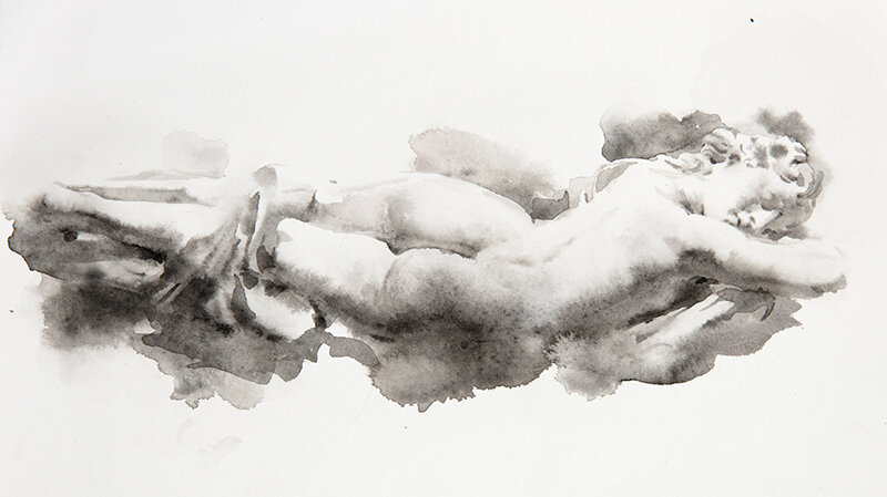 Artist: Wendy Artin  Title: Hermaphrodite  Date: 2019  Size: 23x31  Method: Watercolor  Price:  Inquire