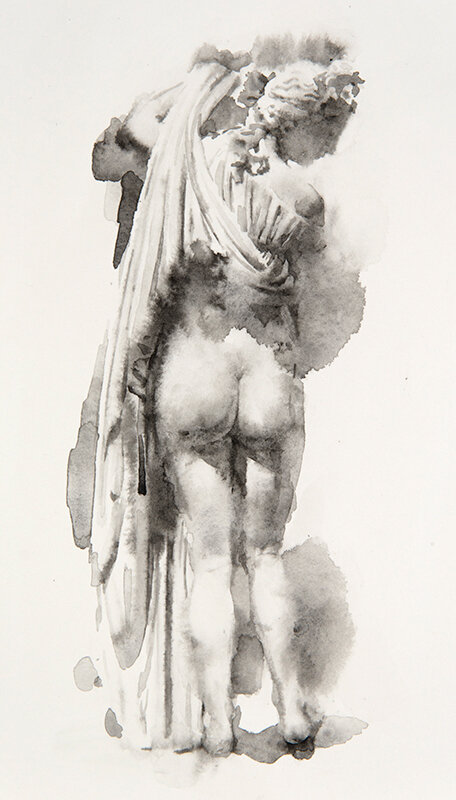 Artist: Wendy Artin  Title: Aphrodite  Date: 2019  Size: 17x26  Method: Watercolor  Price:  Inquire
