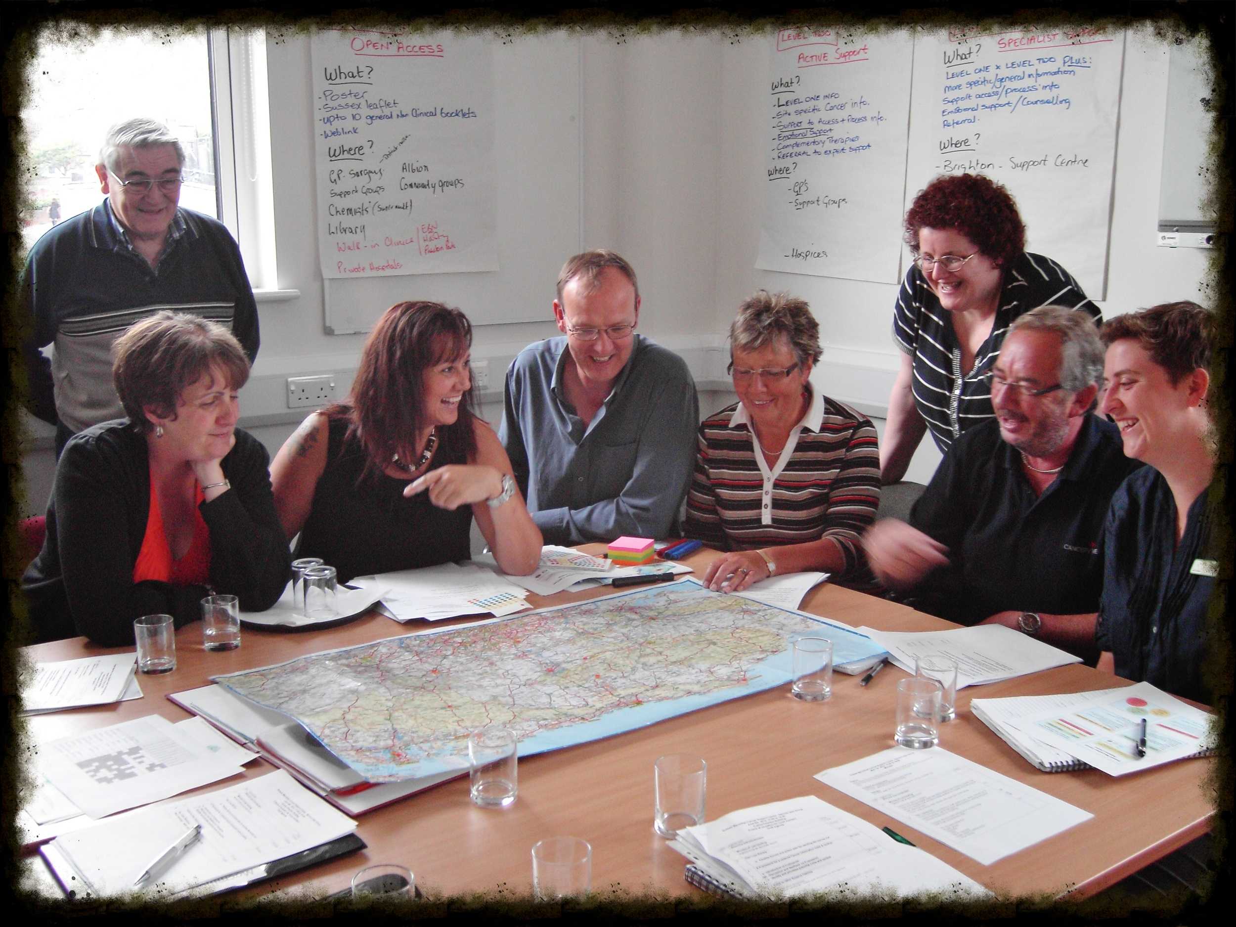 Service User Group mapping out where the local services are in Sussex