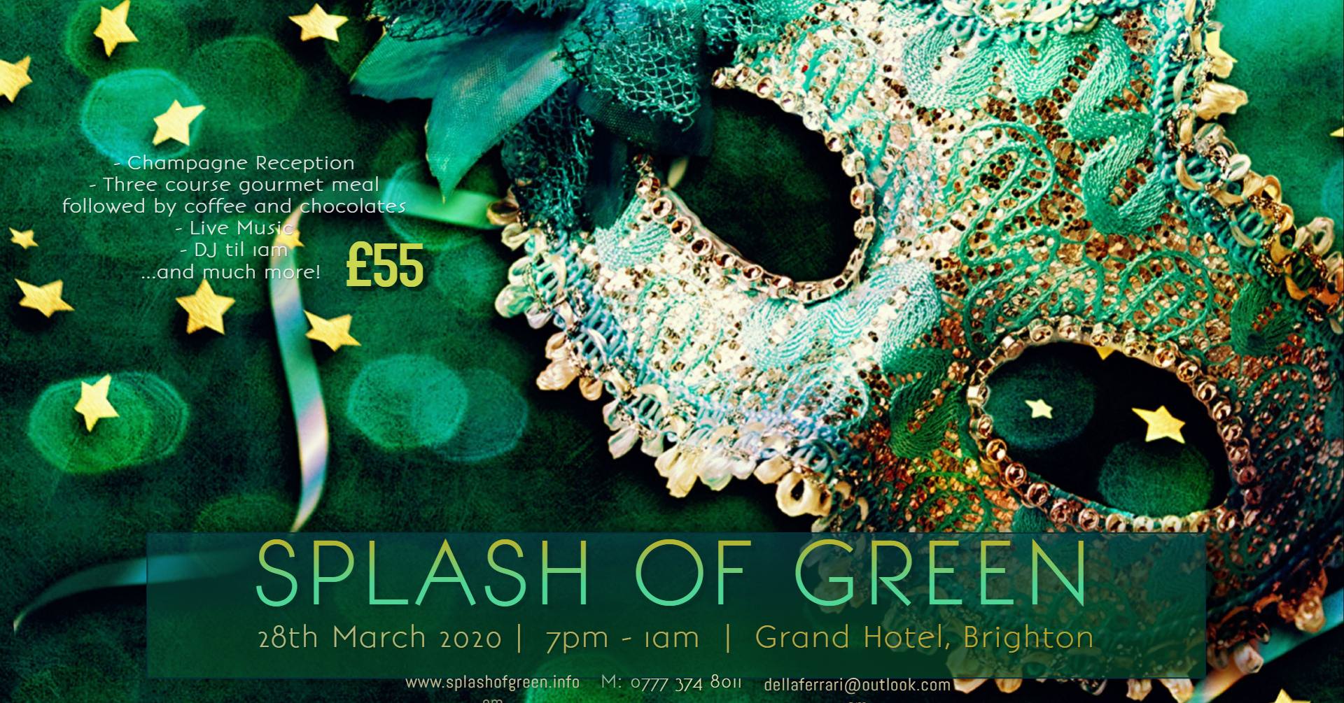 come along and support our 2020 event. Get in touch and buy your ticket today  www.splashofgreen.info