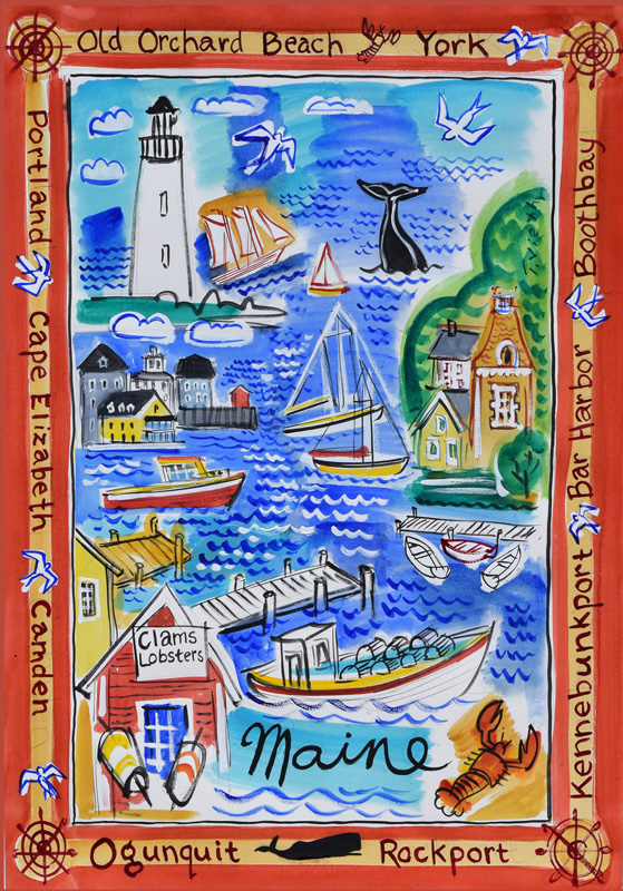Maine     Denise Marie's Special Tea Towels, a division of LilyO's     deniseonmarcoisland@live.com       239-287-0447    Shops: *Atlantic Design Center, York   www.atlanticdesignctr.com  * Antiques on Nine, Kennebunkport  207.967.0626 *     Sweetbay,  Boothbay Harbor  www.sweetbayshop.com  *  The Smiling Cow, Camden  www.smilingcow.com   *     Old Salt Gift Shop, Kennebunkport  207.967.4966 (Barbara)*    Cape Porpoise Kitchen  www.kitchenchicks.com   *       Goosefare Trading, Old Orchard Beach   www.goosefaretrading.com *    Maine's Pantry, Portland  www.mainespantry.com  *     * Beyond the Sea, Lincolnville Beach  www.beyondthesea.com *  Len Libby Chocolates, Scarborough  www.lenlibby.com    * Kate Nelligan Designs, Kennebunkport  www.katenelligandesign.com * Seashell Cottage, Ogunquit 207.216.9279* Nubble Light Gifts, Sohier Park Info Center  www.nubblelight.org * Calluna Florist, Ogunquit  *  My Darling Maine Island Boutique, Bar Harbor 207.801.9346