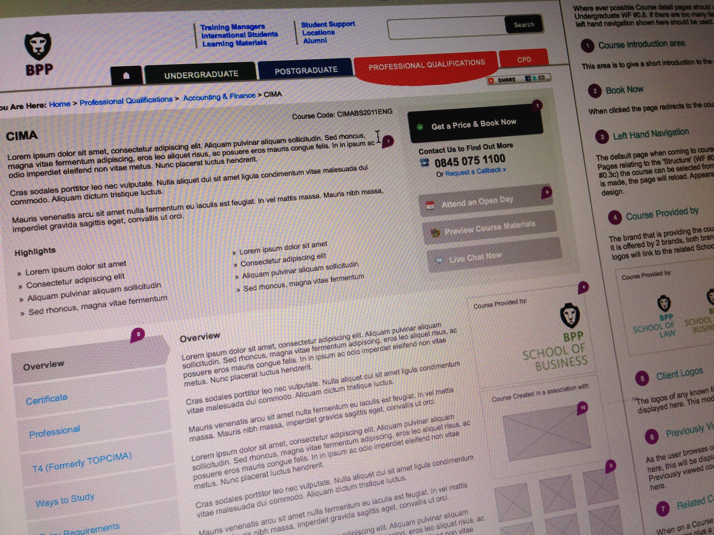 Course Details Page - Wireframe