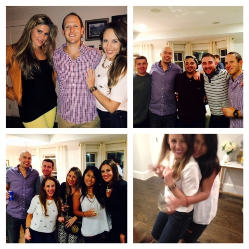 Thanks to our friends for filling our house with love and laughs!! xo