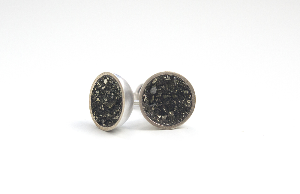 Pyrite Dust Earrings