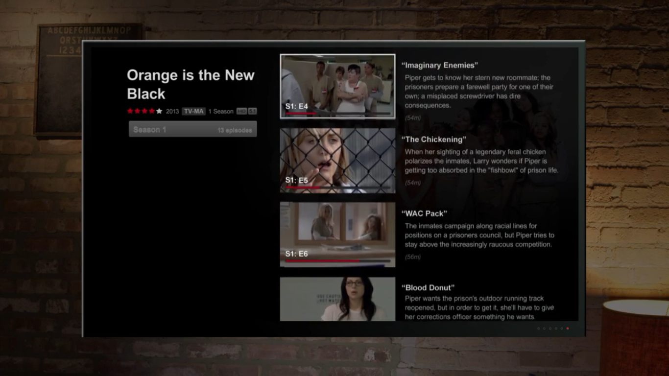 Want to find that one episode of the show you love but can't remember the episode number? Netflix solves that with short write ups of each episode!