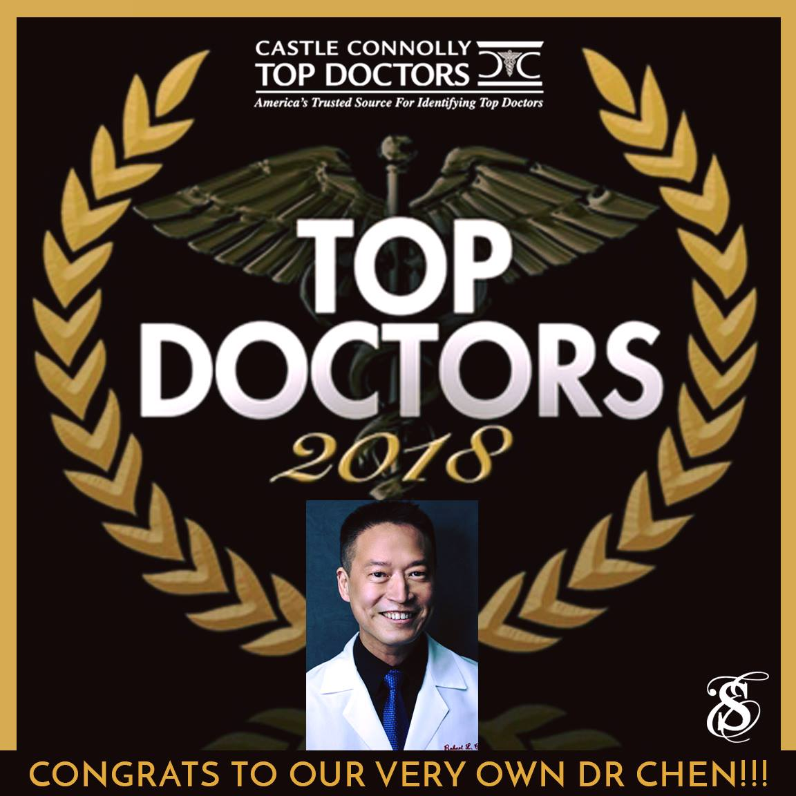 Castle Connoly Top Doctors Award to Dermatologist Robert Chen MD PhD.jpg