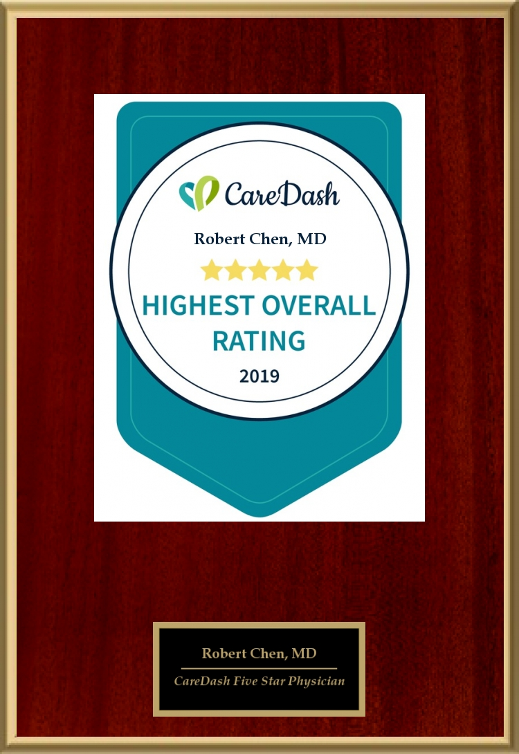 2019 CareDash Highest Overall Rating Five Star Physician awarded to Robert Chen MD PhD - Acacia Dermatology Lawrenceburg and Skin Envy MD Nashville.jpg