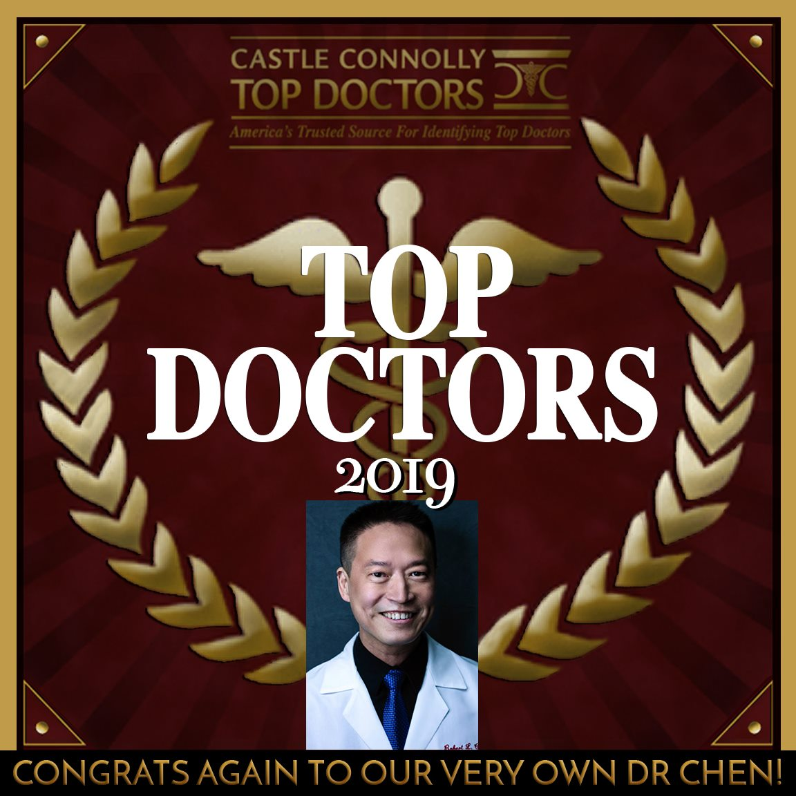 Dr. Robert L. Chen, MD, PhD - Named A Top Dermatologist in the American Southeast