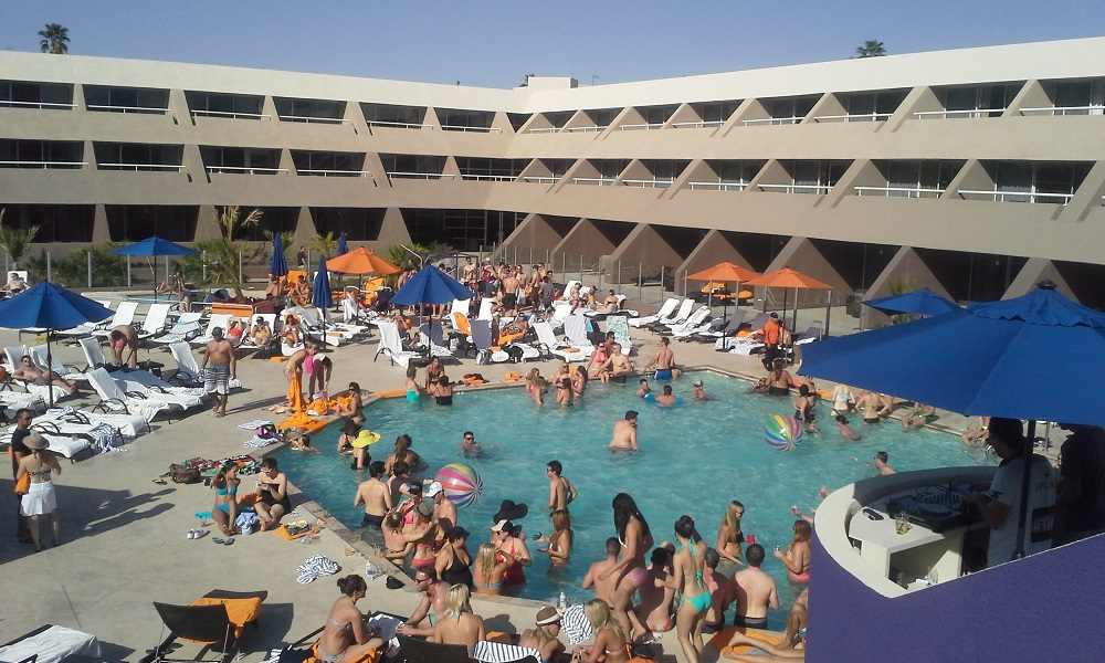 My advice: get a room on the ground floor, overlooking the pool. (c) Hard Rock Hotel Palm Springs