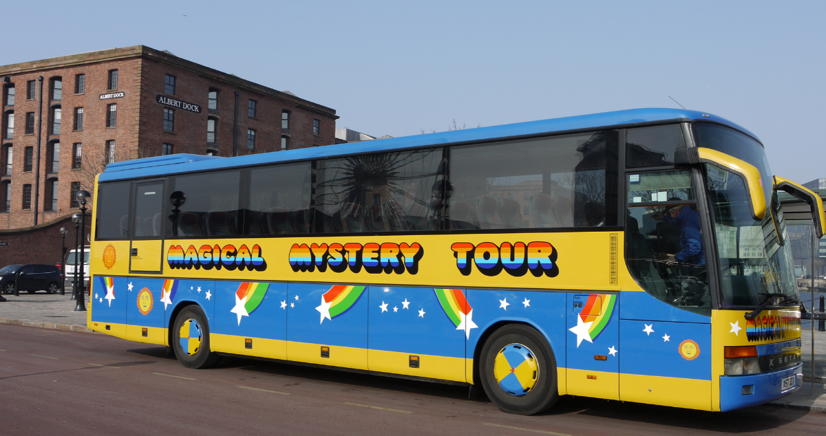 If you have to take a bus tour, the bus might as well look like this. (c) Cavern Club