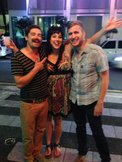 Yep, I'm that drunk tourist (in the middle)