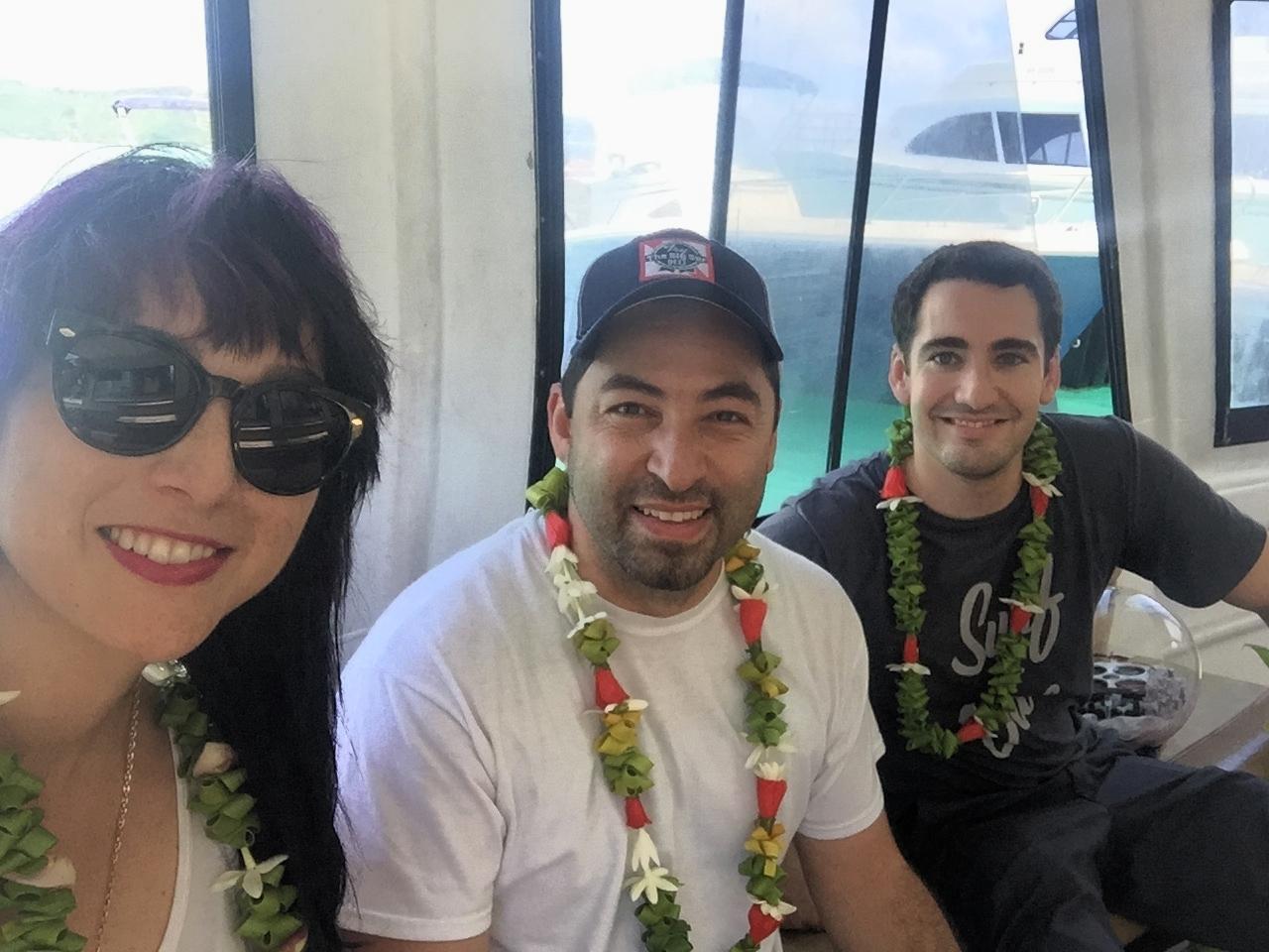 The crew's arrival on Bora Bora