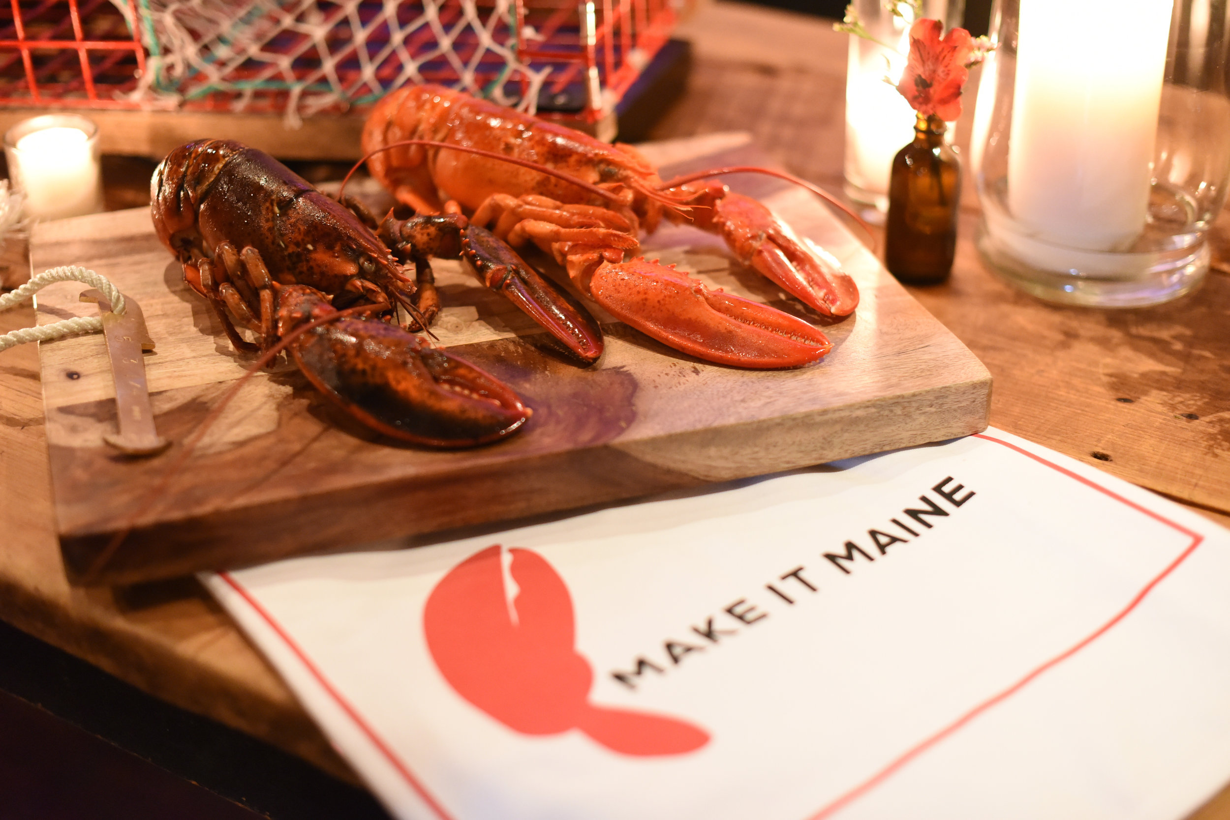 Hard shell lobster (left) is typically shipped to restaurants outside of Maine. Image courtesy of the Maine Lobster Marketing Collaborative.