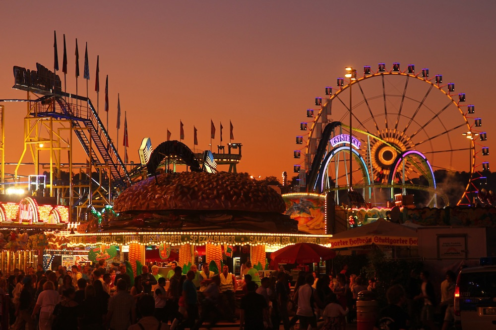 Before it gets dark, explore the festival grounds and pick a meeting spot for your group.Image courtesy of the Germany National Tourist Board.