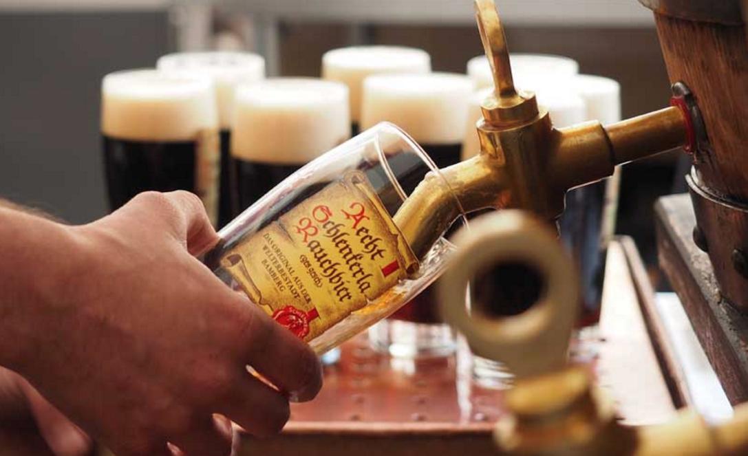Schlenkerla serves its famous smoked beer from the cask. Image courtesy of Schlenkerla.