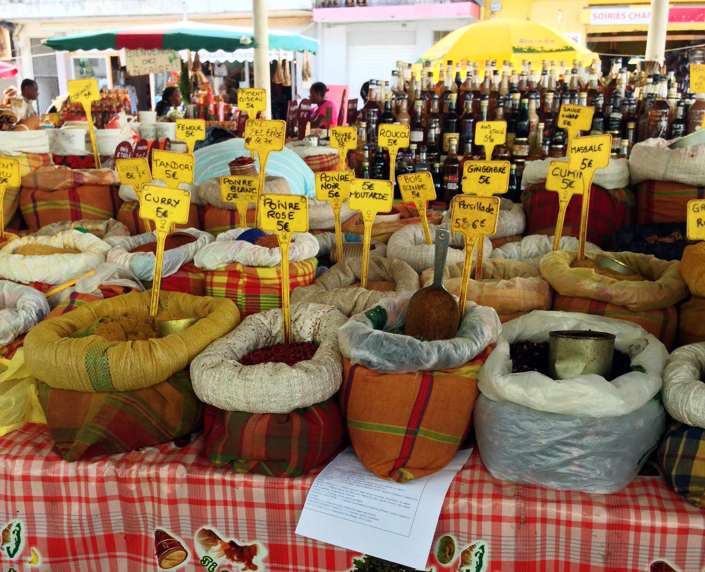 Guadeloupe's variety of spices help create depth and character in local dishes.