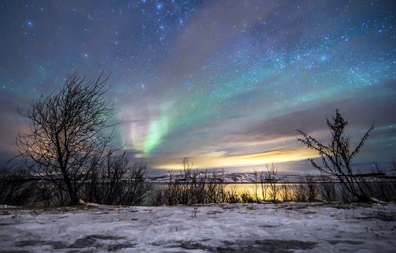 You might catch a glimpse of the Northern Lights at Kirkenes Snowhotel. Image courtesy of the Kirkenes Snowhotel.