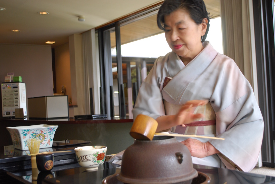 A Japanese tea ceremony to calm the mind