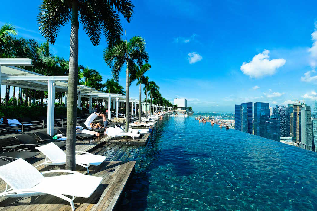 The SkyPark, the eternal home of epic selfies. Image courtesy of the Marina Bay Sands.