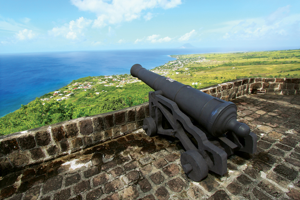 View from the top of Brimstone Hill Fortress and National Park. Image courtesy of the St. Kitts Tourism Authority.